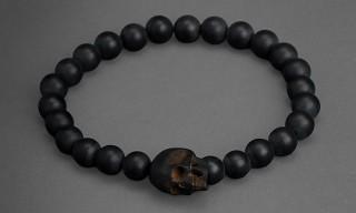 John Varvatos Matte Black Onyx Bead Bracelets