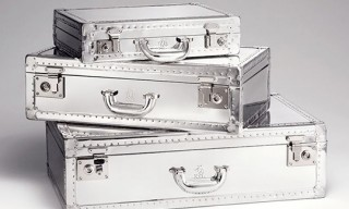 Dunhill Brushed Aluminum Luggage