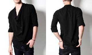 OAK Black Square Collar Button Up Shirt