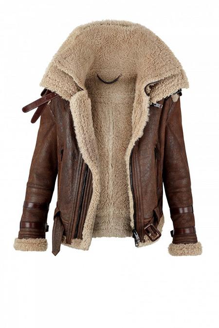 Shearling Wool Coat - Coat Nj