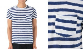 Edifice Striped Pocket T-Shirt