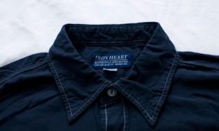 "Iron Heart ""Overdyed"" Short Sleeve Work Shirt"