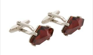 Lanvin Swarovski Crystal Cufflinks