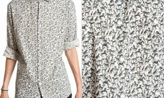 Peter Jensen Print Poplin Shirt