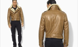 "Ralph Lauren Black Label ""Bond Leather"" Bomber Jacket"