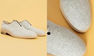 Band Of Outsiders Grey Melton Saddle Shoes