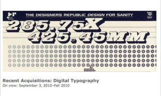 Recent Acquisitions: Digital Typography at the Cooper-Hewitt, National Design Museum