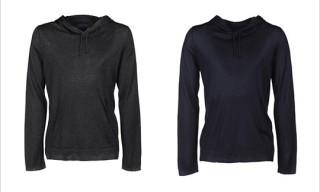 Umit Benan Drawstring Hooded Cashmere Sweater