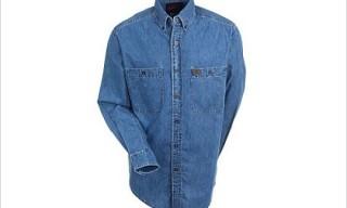 "Riggs Workwear ""Denim Shirt"" by  Wrangler"