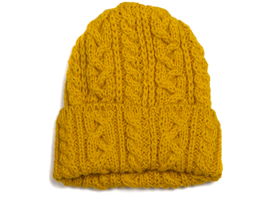 Highland 2000 Yellow Cable Knit Hat Highsnobiety