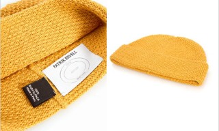 Patrik Ervell Knit Alpaca cap in Golden Yellow