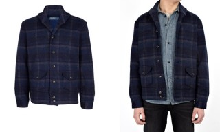 Ralph Lauren Navy Plaid Bomber Jacket