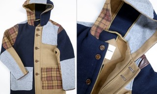Mon Theme Patchwork Duffle Coat