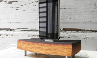 Reclaimed Wine Cask iPod And iPhone Dock Charger
