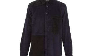 B Store Patchwork Corduroy Shirt