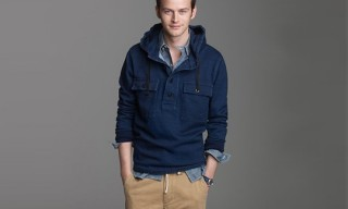 J. Crew Indigo Fleece Anorak Jacket