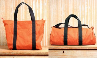 Rogues Gallery Blaze Orange Oil Cloth Tote and Duffle Bag