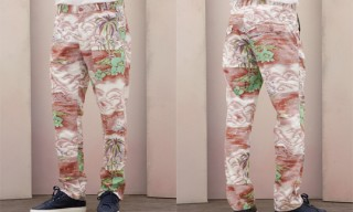 Acne 'Parachute Palm Tree' Trousers