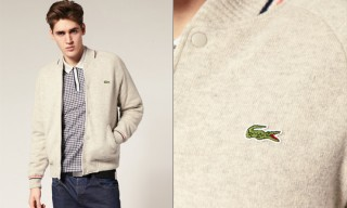 Lacoste Knitted Bomber Jacket