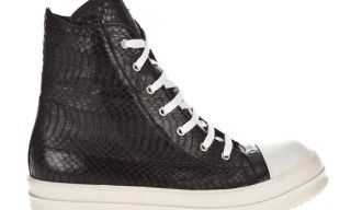 Rick Owens Snakeskin High Top Trainers