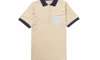 Sunspel Salvage Stripe Polo Shirt