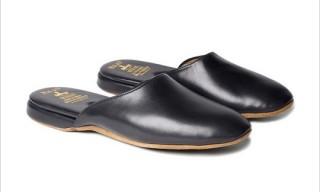 Brooks Brothers Nappa Leather Slippers