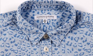Goodhood, R. Newbold Jaquard Leopard Shirt