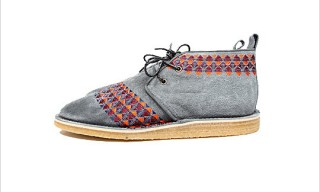 "White Mountaineering ""Geometric Embroidery"" Desert Boots"
