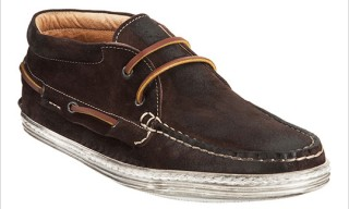 Barneys New York Suede Chukka Boat Shoe