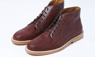 Opening Ceremony Brown Woven Boots
