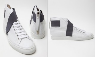 Raf Simons White Strapped High Tops