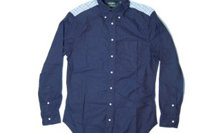 Gitman Vintage for French Trotters Navy Shirt