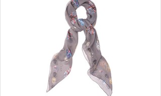 "Alexander McQueen ""Savage Beauty"" Commemorative Scarf"