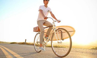 Almond Surfboards, Linus Summer Bike with Board Mount