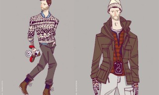 Burkman Bros. Autumn/Winter 2011 Illustrations