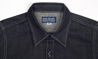 Iron Heart 12oz Raw Indigo Selvedge Work Shirt