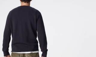 James Perse Thermal Pique Stitch Crew