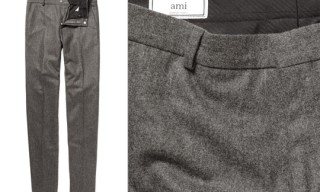 Ami Slim Fit Wool Trousers