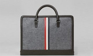 Brooks Brothers Black Fleece Grey Felt Computer Bag