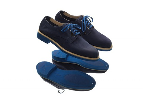 "Some new blue suede bucks from Cole Haan as worked with Theophilus London.  ""Theophilus London collaborates with Cole Haan on a blue suede Buck with an  ..."