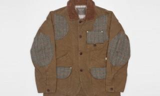 Anachronorm Canvas And Tweed Hunting Jacket Khaki
