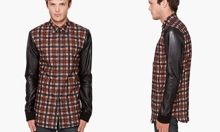 Givenchy Leather Sleeves Shirt