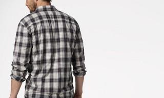 James Perse The Shadow Box Plaid Shirt