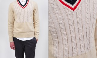 Maison Martin Margiela Cable Knit Detail Sweater