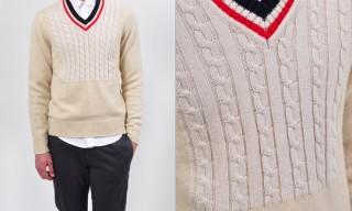 Maison Martin Margiela Cable Knit Detail Sweater