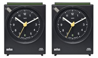 BRAUN Voice Controlled Alarm Clock Black