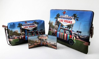 "Paul Smith ""Welcome to Vegas"" Laptop and Toiletry Bags"