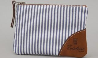 Calabrese Seersucker Zip Wallet