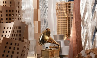 Frank Gehry Designs Poster for the 54th Grammy Awards