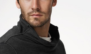 James Perse Heathered Funnel Neck Sweatshirt